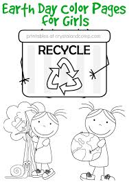 Earth day is celebrated on the 22nd of april every year. Kid Color Pages Earth Day For Girls