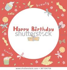 birthday postcard template illustration birthday postcard postcard template cupcakes stock