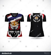 Club T Shirt Designs Muaythai Fight Club Tshirt Design Stock Vector Royalty Free