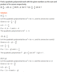 ncert solutions for class 10 maths polynomials ex