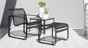 Modern powder coated cast aluminum outdoor furniture