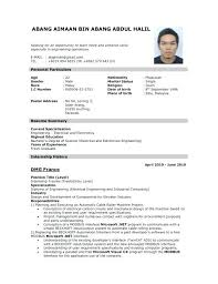 Sample Of A Resume For A Job Job Resume Template Job Resume Template