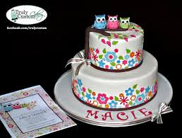 Owl Themed Baby Shower Ideas U0026 Personalized Baby Gifts  Petite Owl Baby Shower Cakes For A Girl
