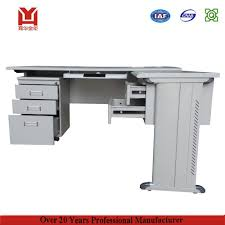 new style stainless steel l shaped office computer desk with office table design