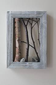 White Birch Bark Wall Hanging Framed Tree by WildWoodBarkArt