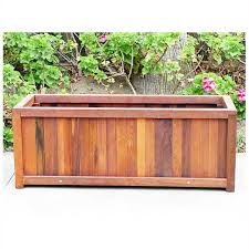 wooden planter boxes | Redwood Outdoor Heavy Duty Planter Box