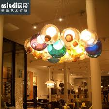 get ations modern minimalist creative personality living room dining led chandelier color bubble glass ball chandelier children s room