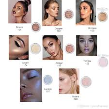 pa highlighter makeup shimmer highlighter iluminador contouring face cosmetics pressed powder highlight palette brighten skin shimmer powder best makeup