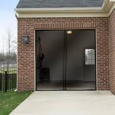 screened in garage doorPure Garden One Car Garage Screen Curtain  Black  114 inches x