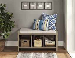 ... Entryway Storage Bench Homemade Entryway Casual Ameriwood Furniture  Penelope Cushion Weathered Oak Benches For Coat Rack