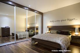 Mirrored Bedroom Wardrobes Mirror Sliding Wardrobes Samara Bed With Attached Drawers