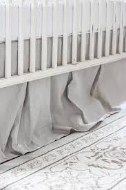 step by step easy tutorial for a gorgeous linen look diy crib skirt from drop cloth