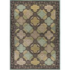 blue green area rugs 5 x 7 medium aqua blue brown and green area rug