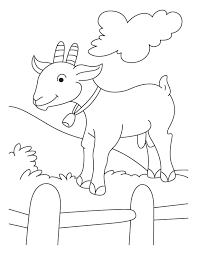 Small Picture Free Cute Goat Coloring Pages