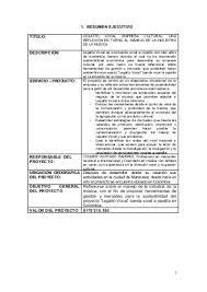 Resumen Ejecutivo 1 Titulo 2 Objetivos 3 Metodologia 4