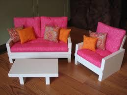 Pink Living Room Set American Girl Sized 18 Doll Living Room Furniture Set