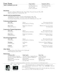 Theatre Resume Template Word Best Musical Theatre Resume Template Luxury Theatrical Resume Template