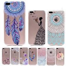 Dream Catcher Case Iphone 7 Plus Patting Henna Floral Paisley Flower Mandala Elephant Dream Catcher 61