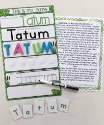 Frog Themed Behavior Chart Frog Themed My Name Mat Learn To Write Your Name With A Multisensory Experience Name Puzzle