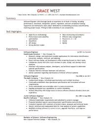 Resume Description Examples Resume For Software Engineer Software Engineer Resume Templates 77