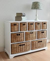 wicker chest of drawers. Tetbury Wide Storage Chest Of Drawers With Wicker Baskets Very Solid Basket Unit Generously Sized FULLY ASSEMBLED Amazoncouk Kitchen Home To