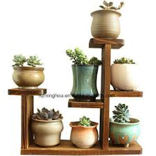 office flower pots. Wooden Tabletop Plant Stand Decorative Planter Holder Desktop Flower Pot Rack Shelf For Home Office Pots A