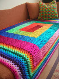 Granny Square Blanket Pattern Cool Granny Square Blanket Spectrum [Free Crochet Pattern] Your Crochet