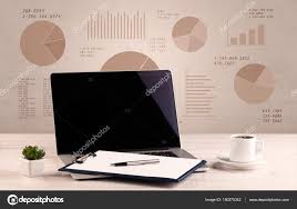 Office Pie Chart Pie Chart Graph Office Desk Stock Photo Ra2studio 150275342