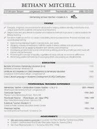 Professional Teacher Resume Template Resume Sample