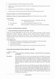 Business Analyst Resume Samples Usa Fresh Salesforce Business
