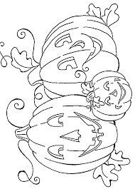 Small Picture Coloring Pages Of A Pumpkin Coloring Home