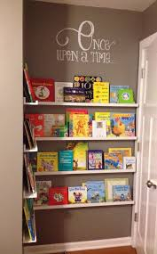 YES  Book nook Book nook in other wise unused space Cheap photo ledges  from IKEA  etsy wall decal u003d custom nursery library