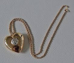 vintage diamond heart pendant heart necklace puffy 14k gold hwantiques ruby lane