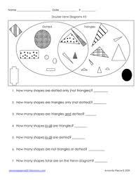 Venn Diagram For Second Graders Double Venn Diagram Practice By Hands On Learning And Play In Second