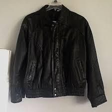details about florenzi mens black leather er biker jacket size large coat rare vintage