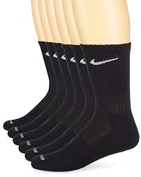 Nike Dri Fit Crew Training Socks Large 6 Pair