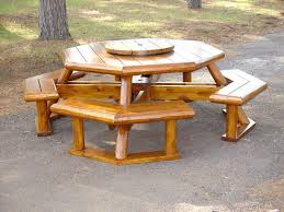 octagon picnic table plans learning wood project octagon picnic table plans with umbrella with regard to round wood picnic table