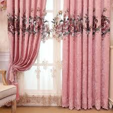 Nach Maß Luxus Ickt Volant Dekoration Rosa Tuch Vorhang Für