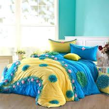 teal ruffle bedding retro style bedroom ideas with chiffon fl girls ruffle bedding set blue yellow pink chiffon fl comforter set blue yellow pink