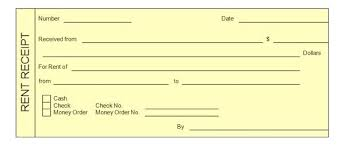 Rental Payment Receipt Template Receipt Example Excel Free Rent