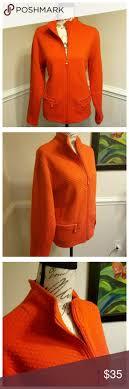 Orange Quilt Pattern Jacket