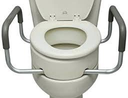 elongated raised toilet seat. essential medical supply elevated toilet seat with arms, elongated raised l