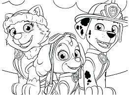 Paw Patrol Coloring Sheets Pages Tracker Seaahco