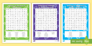 An example of the phonetic alphabet is the world special shown as spe∫∂l. Years 5 6 Spelling List Word Search Pack Teacher Made