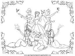 Disegni Da Colorare Delle Principesse Disney Bianco E Nero