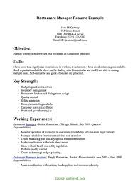 Best How To Write A Resume For A Restaurant Job Resume For