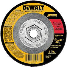 Oregon Grinding Wheel Chart Dewalt Dw4523 4 1 2 Inch By 1 4 Inch By 5 8 Inch General Purpose Metal Grinding Wheel
