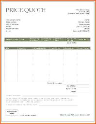 Price Quotation Template Price Quote Template For Business Excel