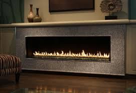 linear gas fireplace. Montigo R Series Linear Fireplace Glass Stone Gas