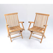 Tortuga outdoor jakarta teak folding chairs set of 2 tk 2pk f